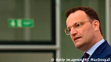 German Health Minister Jens Spahn holds a press conference on the German testing strategy on August 6, 2020 at the health ministry in Berlin, amid the novel coronavirus COVID-19 pandemic. (Photo by John MACDOUGALL / AFP) (Photo by JOHN MACDOUGALL/AFP via Getty Images)