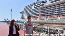 Italien Kreuzfahrtschiff Msc Grandiosa im Hafen von Genua