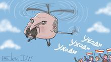 Karikatur von Sergey Elkin. Proteste in Belarus, Proteste in Weißrussland, Alexander Lukashenko
