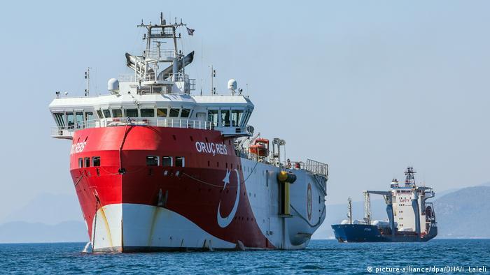 أعربت أوروبا عن قلقها من وجود سفينة عروج ريس للمسح الزلزالي التركية في منطقة تطالب بها اليونان