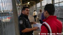 Grenze USA Mexiko Matamoros Grenzübergang