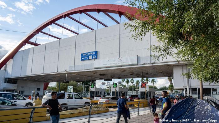 Puente internacional en Matamoros, Tamaulipas.