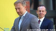 Deutschland Berlin FDP PK | Christian Lindner und Volker Wissing