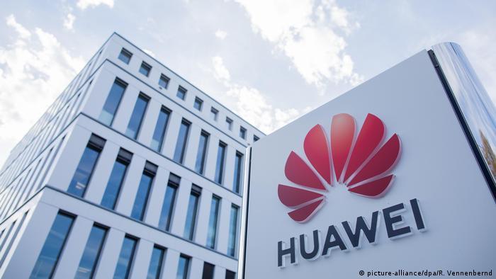 Central da empresa chinesa de tecnologia Huawei em Düsseldorf, na Alemanha.