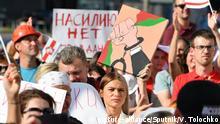 17.08.2020, Belarus, Minsk: 6310197 17.08.2020 Health care workers take part in a rally in Minsk, Belarus. Viktor Tolochko / Sputnik Foto: Viktor Tolochko/Sputnik/dpa |