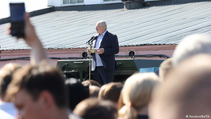 Александр Лукашенко на одном из предприятий Беларуси