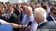 Minsk Lukaschenko Auftritt vor Fabrikarbeitern