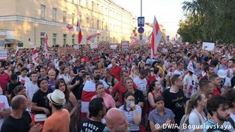 Minsk Kundgebung Gefängnis Opposition