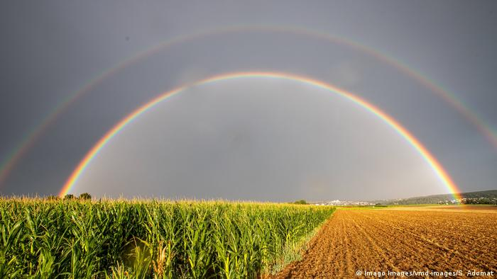 BdTD Deutschland doppelter Regenbogen bei Remseck (Imago Images/vmd-images/S. Adomat)