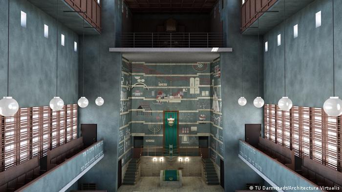 Recriação digital da sinagoga de Plauen