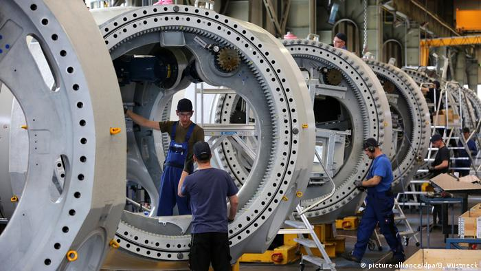 Deutschland Konjuktur Turbinenfertigung Windkraftanlagen