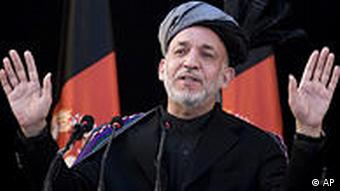 Afghanistans Präsident Hamid Karzai (Foto: AP)