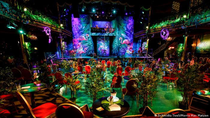 Germany Hamburg Reeperbahn - Interior of the Schmidt Tivoli Theater and the set for the Paradiso show