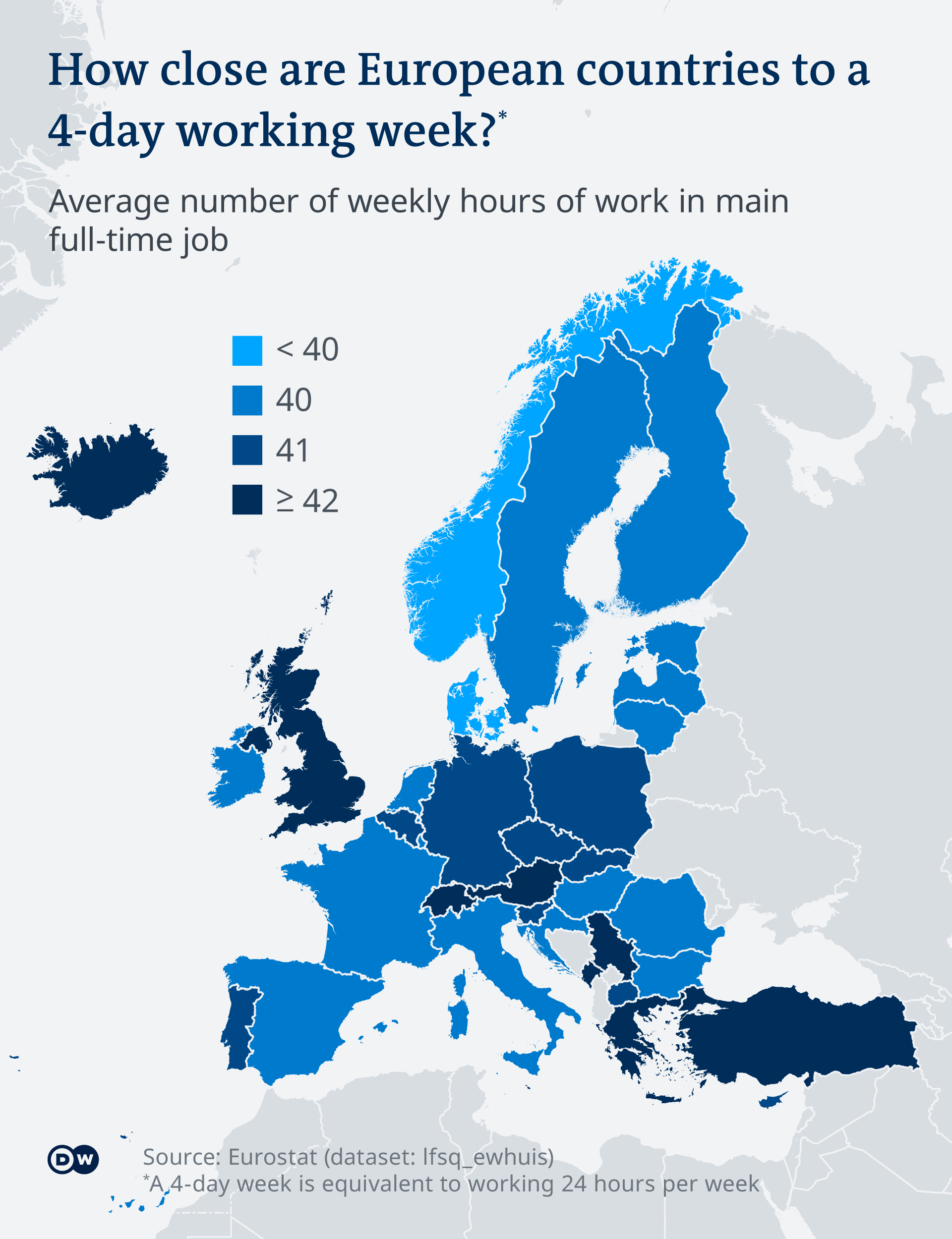 Graphic: How close are European countries to a 4-day working week?