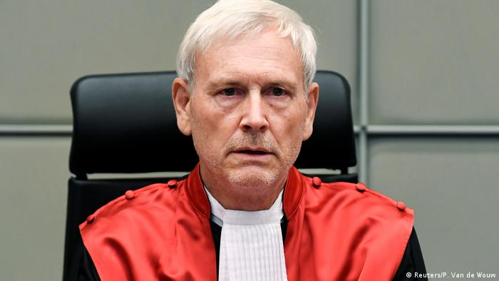 Der vorsitzende Richter des UN-Tribunals, David Re