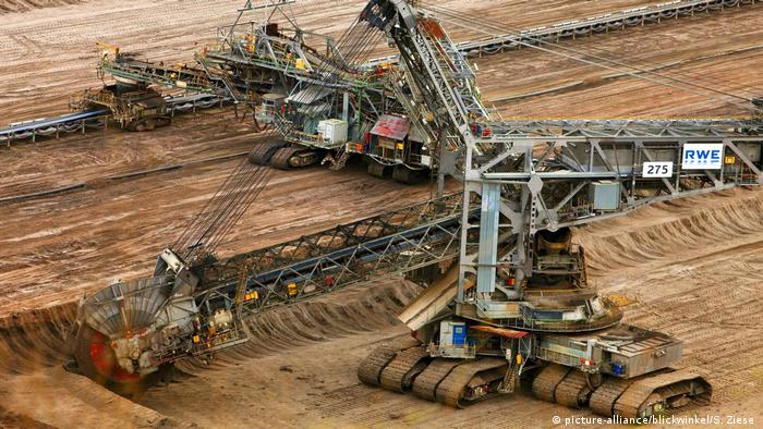 A bucket wheel excavator for brown coal mining in Germany