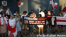 Vilnius Litauen Protest Belarus Botschaft