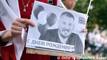 Proteste vor dem Gefängnis des inhaftierten Sergei Tichanowski