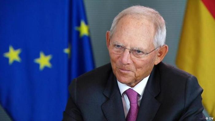 Screenshot DW Interview mit Wofgang Schäuble
