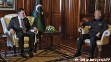 Libyen, Tripolis | Katar Türkei Libyen Treffen PM Fayez al-Sarraj Hulusi Akar