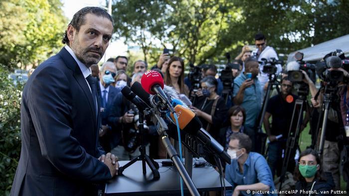 Saad Hariri, ex primer ministro de Líbano en La Haya
