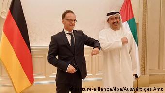 Heiko Maas avec son homologue émirati Abdullah ben Zayed Al-Nahyane (18.08.2020)