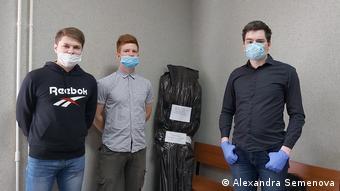 Подсудимые на суде в Перми (слева направо: Александр Шабарчин, Данила Васильев, Александр Эткин)
