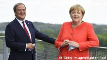 NRW I Treffen Angela Merkel und Armin Laschet