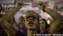 SAO PAULO, BRAZIL - MARCH 08: Several feminist groups protest against the Michel Temer government during a big march on Women's Day on March 8, 2017 in Sao Paulo, Brazil. Among the issues of the protest are the legalization of abortion and gender equality. Brazil is the fifth most violent country against women in the world. (Photo by Victor Moriyama/Getty Images)