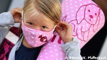 Coronavirus | Deutschland | Rodenbach Schülerin mit Maske