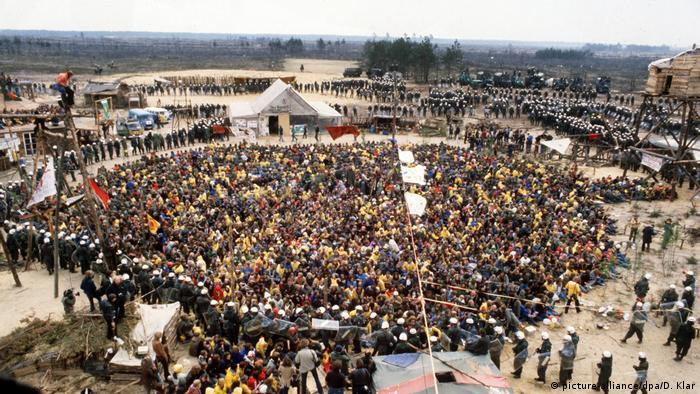 Deutschland Anti-Atomkraft-Bewegung | Räumung n Gorleben 1980