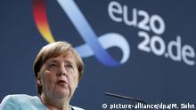 Angela Merkel Pressekonferenz nach Videokonferenz mit dem Europäischen Rat zum Thema Belarus