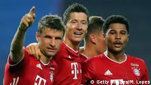 Champions League Halbfinale Lyon Bayern München Gnabry Jubel
