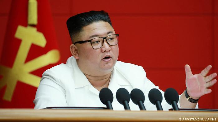Nordkorea | Staatschef Kim Jong Un nimmt an einer Plenarsitzung der Arbeiterpartei in Pjöngjang teil (AFP/STR/KCNA VIA KNS)