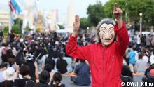 Strassenproteste Bangkok Thailand