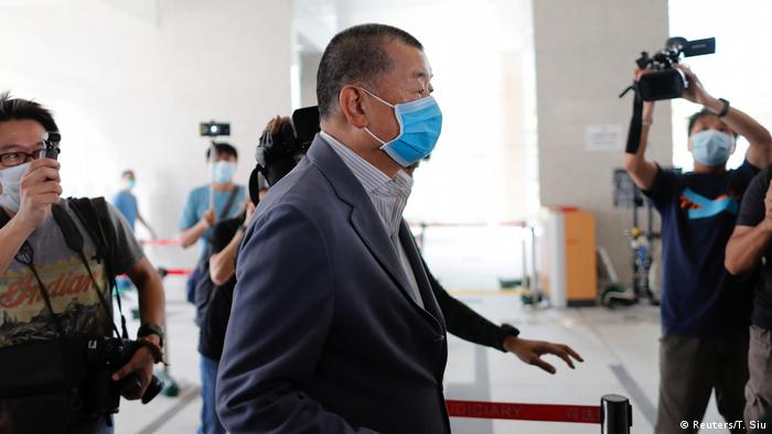 Jimmy Lai arrives in court