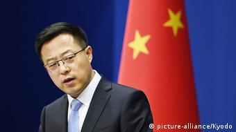 China Sprecher des Aussenministeriums Zhao Lijian (picture-alliance/Kyodo)