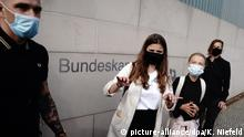 Deutschland Berlin Treffen Greta Thunberg Angela Merkel PK Luisa Neubauer