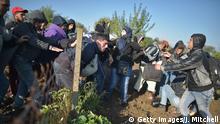 Flüchtlinge Grenze Serbien Kroatien