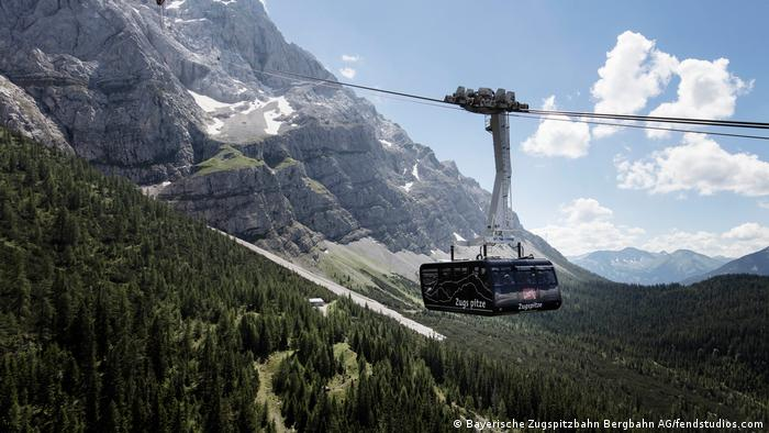 Germany, Zugspitze cable car on ascent