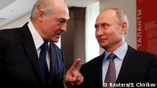 15.02.2019 FILE PHOTO: Belarus President Alexander Lukashenko and Russian President Vladimir Putin meet at the Sirius Educational Center in the Black sea resort of Sochi, Russia February 15, 2019. Sergei Chirikov/Pool via REUTERS/File Photo