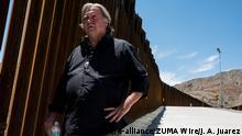 USA Steve Bannon am Grenzzaun zu Mexiko
