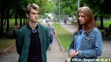 Vladislav Sokolowsky und Kyrill Galanov, DJs aus Minsk, 20.08.20 Fotograf: Alexandra Boguslawskaya, DW.