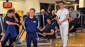 Виталий Клычко в фитнесс-клубе