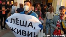 Russland | St.Petersburg | Protest wegen angebliche Vergiftung von Oppositionspolitiker Alexey Navalny