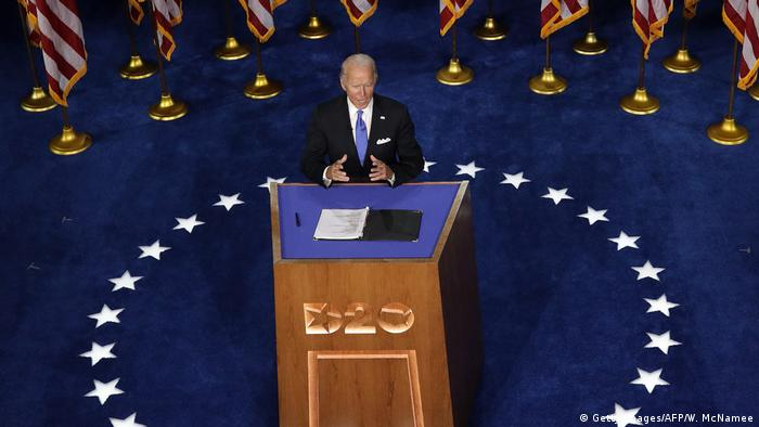 Joe Biden discursa na convenção democrata