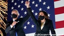USA Wilmington | Joe Biden, demokratischer Präsidentschaftskandidat, und Kamala Harris, demokratische Vize-Präsidentschaftskandidatin