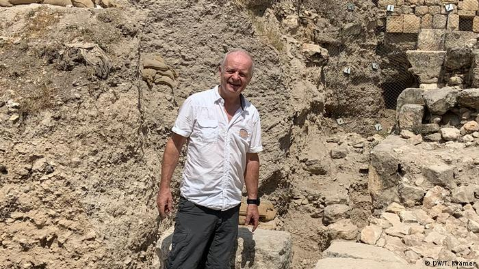 German archaeologist Dieter Vieweger stands in one of the excavation sites