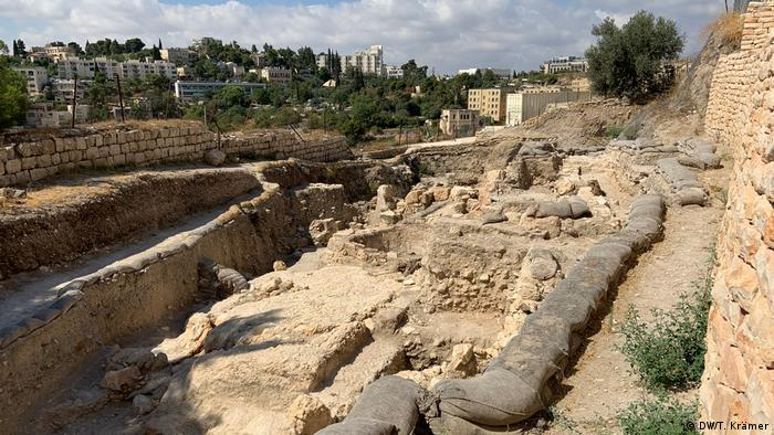The large excavation site on Mount Zion