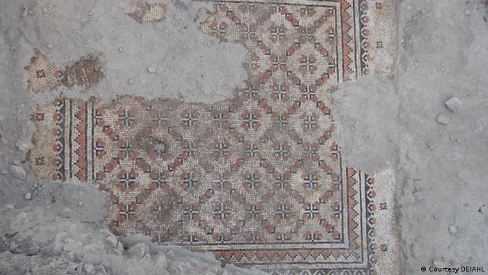 Ancient mosaics unearthed on Mount Zion show slight damage in places